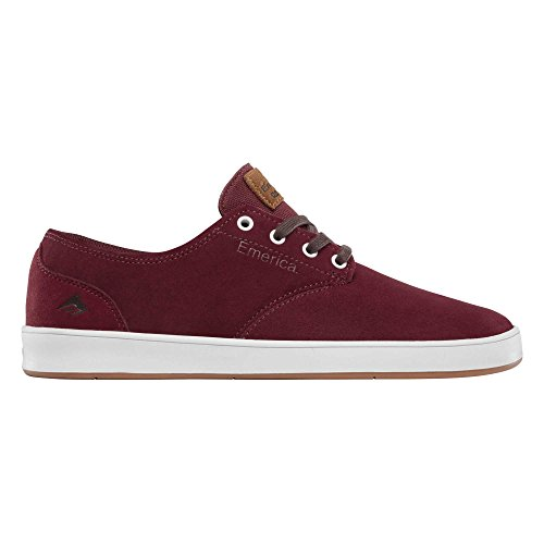 Emerica The Romero Laced, Men's Skateboarding Burgundy/White