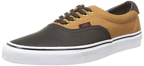 Vans Unisex Era 59 Skate Shoes Rubber/Black