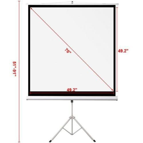 70'' Portable Projector Screen Projection Pull Up Foldable Stand Tripod Case Set + FREE E-Book by Eight24hours