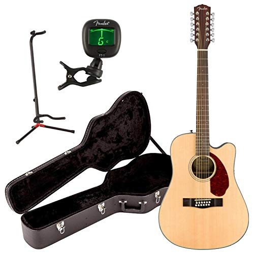 Fender CD-140SCE Solid Top 12-String Acoustic Electric Guitar Natural w/Case, S