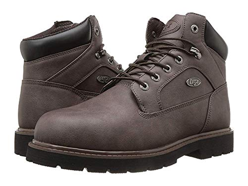 Lugz Men's Mortar Mid Steel Toe Chukka Boot Coffee/Black 12 D US ()