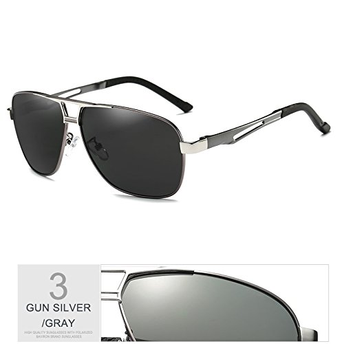 TIANLIANG04 De Gafas Lente Calidad Hombres Guía Superior De Polarizadas Sol Masculina Alta Metal Gafas Perfecta Gafas De BwrnB0UTq