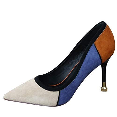 tacón Alto Trabajo Zapatos Zapatos Baja Gamuza Banquete 35 Estilo Boca señaló de tacón Zapatos Juego Moda de Boda de Europeo YMFIE 35 Zapatos Color a UE de de Zapatos EU de de a48zxn4w1