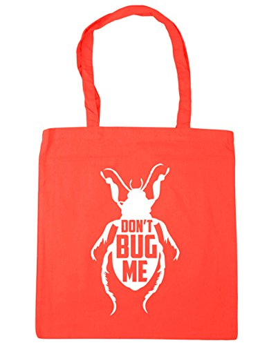 HippoWarehouse Don't Bug Me Tote Shopping Gym Beach Bag 42cm x38cm, 10 litres Coral