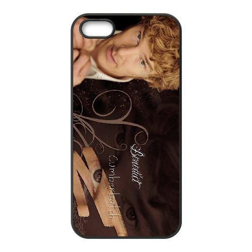 Benedict Cumberbatch 007 coque iPhone 4 4S cellulaire cas coque de téléphone cas téléphone cellulaire noir couvercle EEEXLKNBC23517