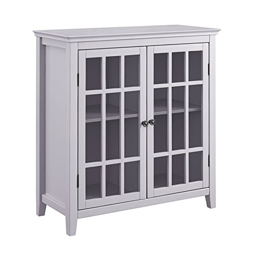 Riverbay Furniture Double Door Cabinet in Gray by Riverbay Furniture