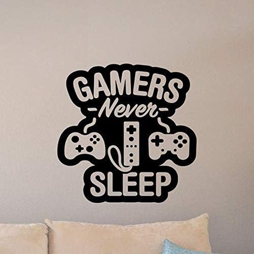 zzlfn3lv Gaming Tatuajes de Pared Gamer Never Sleep Quote Retro ...