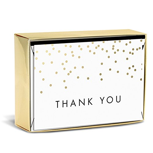 Graphique Falling Dots Thank You Note Cards (W6062CB) by Graphique