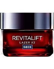L'Oréal Paris Revitalift Lazer X3 Yoğun Yaşlanma Karşıtı Gece Bakım Kremi, 50 ml
