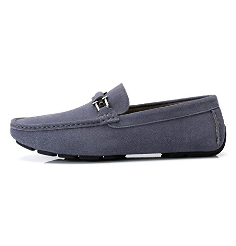 Camel Mens Moccasin-gommino Slipper Driving Moccasin Casual Loafers Boat Shoes Grey bHS3rc6hm