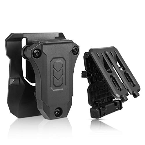 - efluky Universal Magazine Pouch, Single Stack Magazine Holster with Three Options Fits Glock Sig Browning Beretta Taurus H&K S&W Colt Kimber 1911 Mags and More