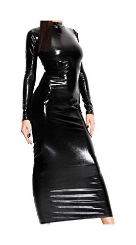 Demoniq Longue Robe Wetlook Du Noir