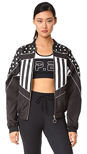 P.E NATION Women's Wild Pitch Reversible Jacket, Black/White, XS/S