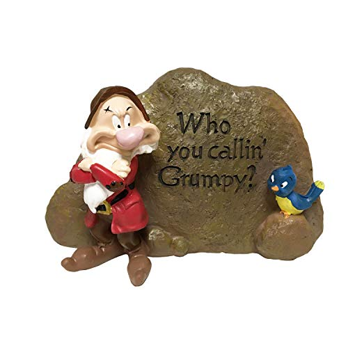 The Galway Company Grumpy Outdoor Garden Rock, Classic Disney Collection, 5 Inches Tall by 7.5 Inches Wide, Classic Snow White & 7 Dwarfs Collections, Hand-Painted, Official Disney Licensed Product
