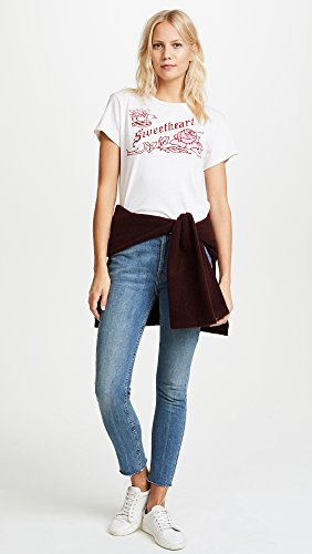 RE/DONE Women's Classic Sweetheart Tee, Vintage White, Medium by RE/DONE (Image #5)