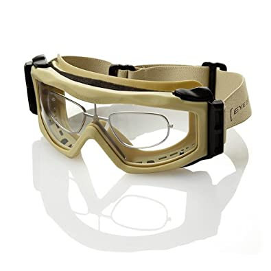 04495f9edc Optx 20 20 Eyedefend US Armor Safety Military Ballistic Goggles with Rx  Insert