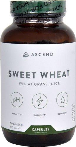Brightcore Nutrition Sweet Wheat® Grass Juice Powder -- 180 Vegan Capsules ()