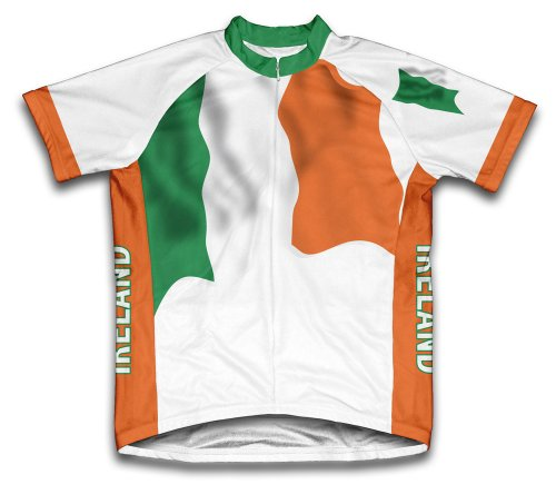 ScudoPro Ireland Flag Short Sleeve Cycling Jersey for Men - Size XL