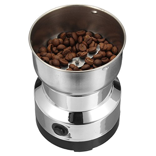 220V Electric Stainless Steel Grinding Milling Machine Coffee Bean Grinder Burr