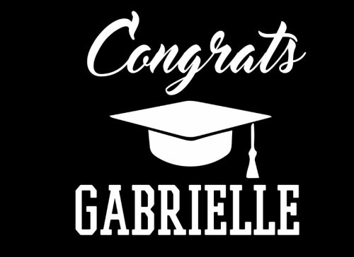 Read Online Congrats Gabrielle: Graduation Cap Guest Signing Book For Party, Personalized Gift. Graduate Advice or Autograph Book Lined. (Tassel Zone) PDF