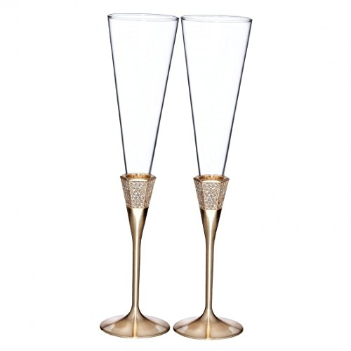 Gold Champagne Flute (Lismore Diamond Gold Champagne Flute (pair))