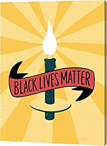 Black Lives Matter Giclee Canvas Art Print by Emily Rasmussen