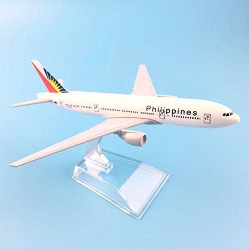 16 cmフィリピンエアバスA380航空機モデル1:400ダイキャスト金属
