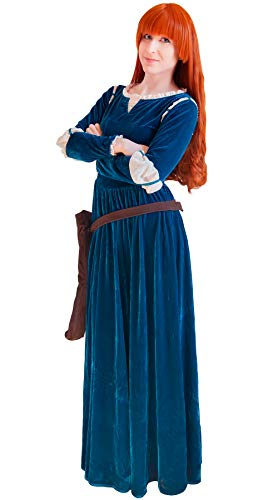 DAZCOS US Size Adult Princess Gown Green Cosplay Dress and Quiver (Women XX-Large) -