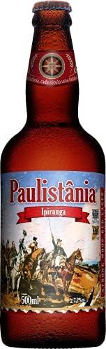 Cerveja Paulistânia, Ipiranga, Red Lager, Garrafa, 500ml 1un