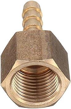 TRUUA 1PC de 1//4 Pulgadas BSP Female Manguera Colas para Man/ómetros Mangueras de 6 mm Lat/ón Conexi/ón//Tubo de 8 mm