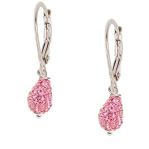 Shamballa Crystal Teardrop Dangle Earrings by Minigems