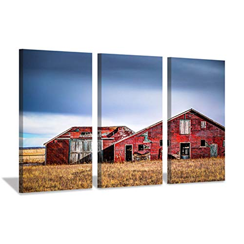 Hardy Gallery Rustic Landscape Artwork Building Picture: Old Barn Graphic Art Print on Canvas