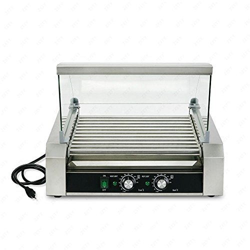 Senrob Electric 30 Hot Dog 11 Roller Grill Cooker Machine 2200-Watt with Cover for Commercial and Household Uses by Senrob (Image #2)