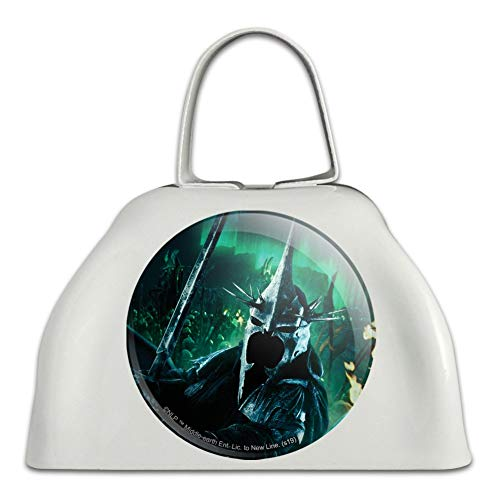 The Lord of the Rings Witch King of Angmar Character White Metal Cowbell Cow Bell Instrument (Lord Of The Rings In Concert Usa)