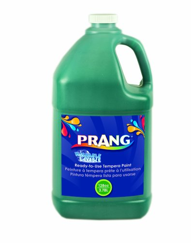 (Prang Ready-to-Use Washable Tempera Paint, 1 Gallon Bottle, Green (10604))