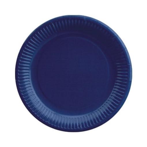 Papstar-11979-50-platos-cartn-redonda-dimetro-23-cm-azul-oscuro