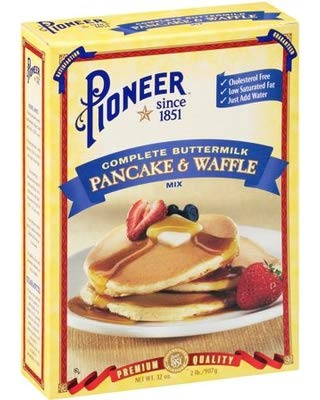 Pioneer Brand Complete Buttermilk Pancake & Waffle Mix, 32 Ounce