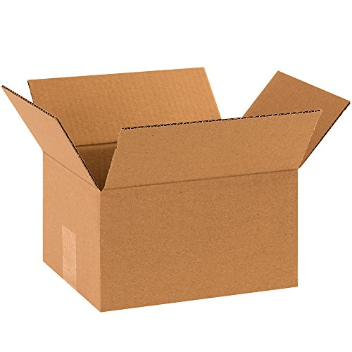 "Partners Brand P1086 Corrugated Boxes, 10""L x 8""W x 6""H, Kraft (Pack of 25) from Partners Brand"