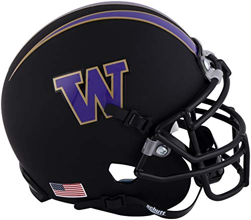 - Sports Memorabilia Washington Huskies Schutt Matte Black Mini Football Helmet - College Mini Helmets