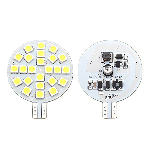 Bulb 24-5050 SMD lamp Super Bright AC 12V /DC 12V -24V For RV Boat Iandscaping Ceiling Dome Interior Lights Cool White (2nd Generation) Pack of 2 ()