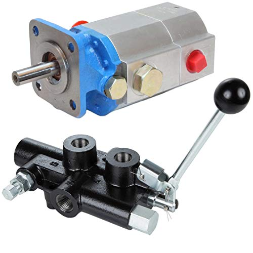 Control Hydraulic Pump (RuggedMade 16 GPM 2 Stage Hydraulic Pump, 25 GPM Auto Return Directional Control Detent Valve 1/2