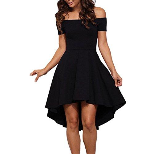 Swing Women Cocktail Short DATEWORK Dress Sleeve Formal Black XFOnH