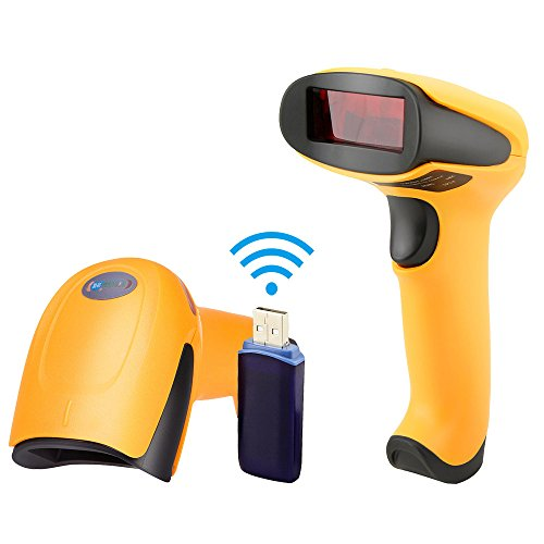 NETUM Wireless Barcode Scanner, Laser Portable Barcode Reader USB Cordless Barcode Scanner Handheld Bar Code Scanner with USB Receiver for Warehouse, Store, Supermarket by METUM