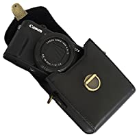 Jay+Gray Protective Compact Leather Camera Case for Digital Point and Shoot Camera Bag with Detachable Strap Canon Powershot G7, Sony, Panasonic by Jay + Gray