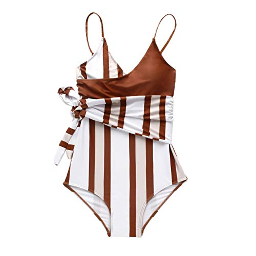 Swimsuit for Womens, FORUU St. Patrick's Day Clover Ladies Sales 2018 Under 10 Valentine's Day Best Gift for Girlfriend Striped Push-Up Pad Bandage One-Piece Swimwear Bathing Beachwear ()