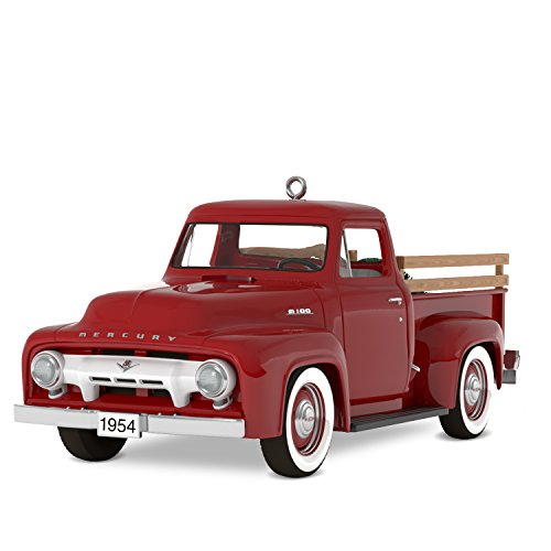 Hallmark Keepsake Christmas Ornament 2018 Year Dated, All-American Trucks 1954 Mercury M-100, (Hallmark Christmas Ornaments)