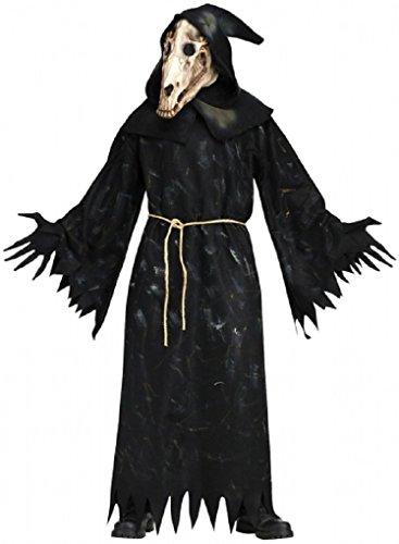 Adult Horse Skull Demon Costume - Mask Robe and Belt