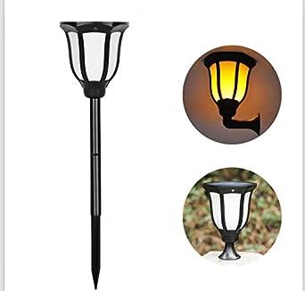 Elegant Torche Solaire Jardin Lumière Lampe 96 Led Décorative Feu Imperméable  Résistante Chaleur Eclairage Exterieur Decoration Pour