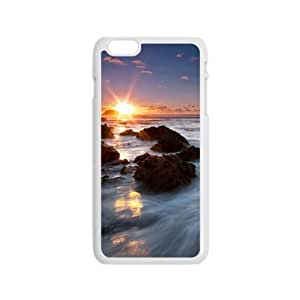 Personalized Creative Cell Phone Iphone 4/4S ,sunrise sky and sea rock