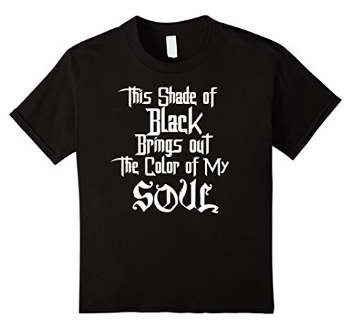 unisex-child Shade of Black Color of my Soul Sarcastic Funny Goth Emo Tee 8 (Emo Girl)